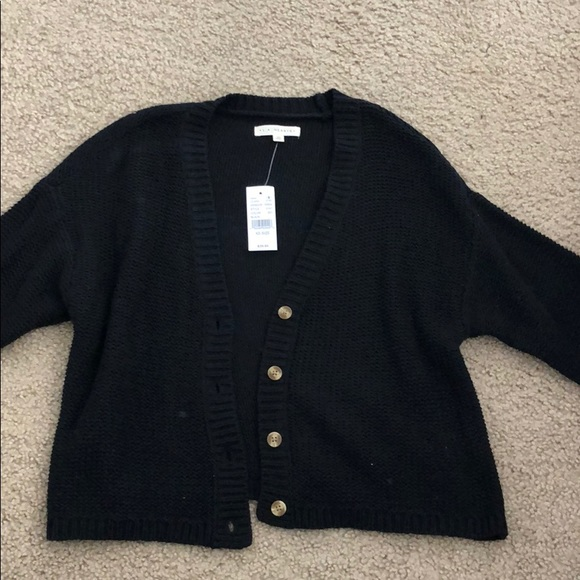 PacSun Sweaters - ~NEW black knitted Cardigan~